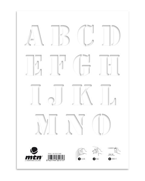 MTN Stencils Alphabet
