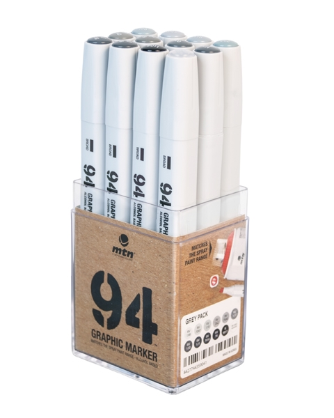 94 GRAPHIC MARKER 12ER-SET GREY