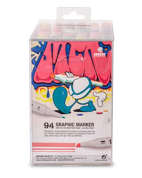 94 GRAPHIC MARKER 36ER-SET SOLID