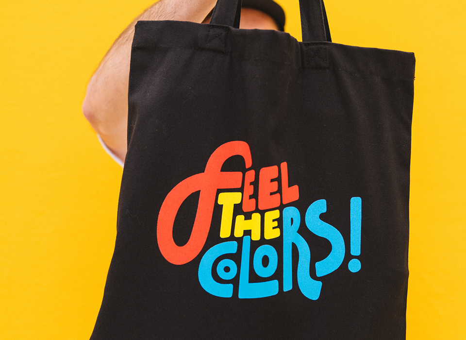 """MTN Tote Bag """"Feel The Colors"""""""