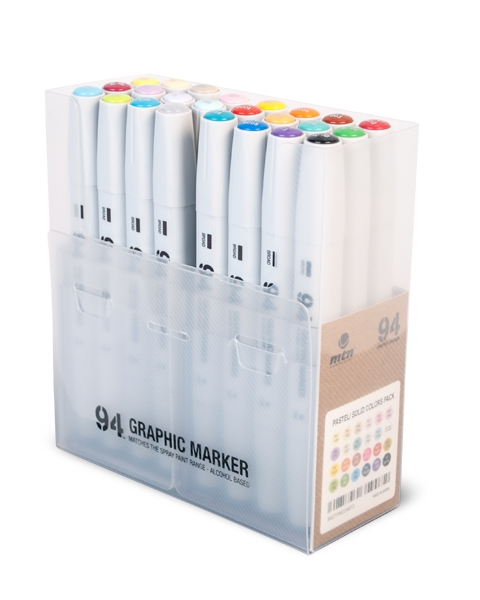 94 GRAPHIC MARKER 24ER-SET SOLID/PASTEL
