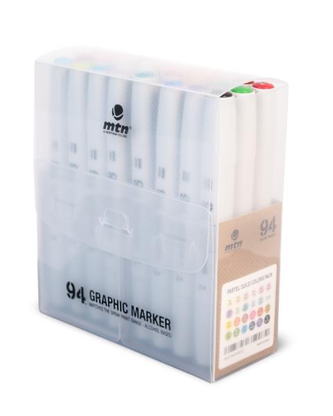 94 GRAPHIC MARKER 24ER-SET SOLID/PASTEL