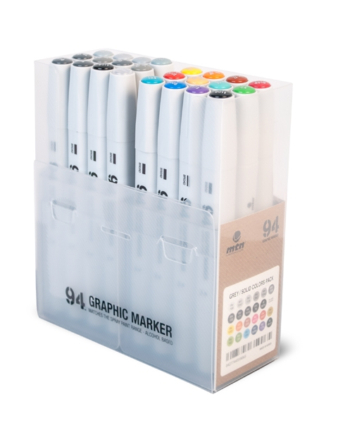 94 GRAPHIC MARKER 24ER-SET SOLID/GREY