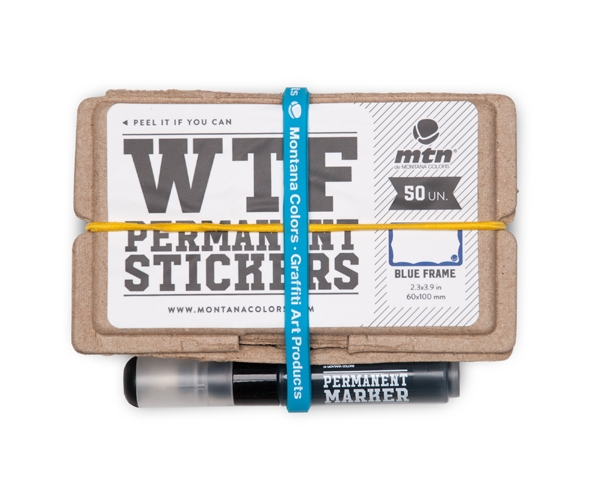 WTF Permanent Stickers: Blue Frame