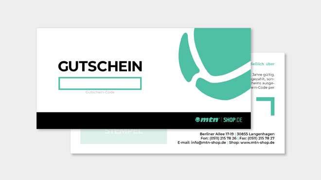 MTN SHOP digitaler Gutschein 100€
