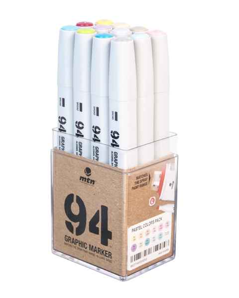 94 GRAPHIC MARKER 12ER-SET PASTEL