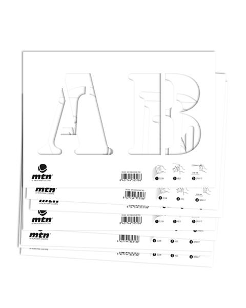 MTN Stencils Alphabet Gross